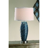 Melrose Blue Table Lamp