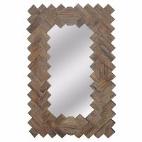 Langford Woven-Like Look Wall Mirror