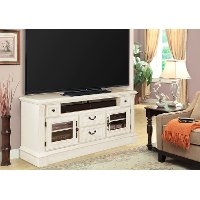 65 Inch Burnished White TV Stand - Fremont