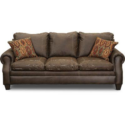 Classic Traditional Brown Sofa - Shiloh