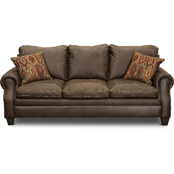 ... Classic Traditional Brown Sofa   Shiloh