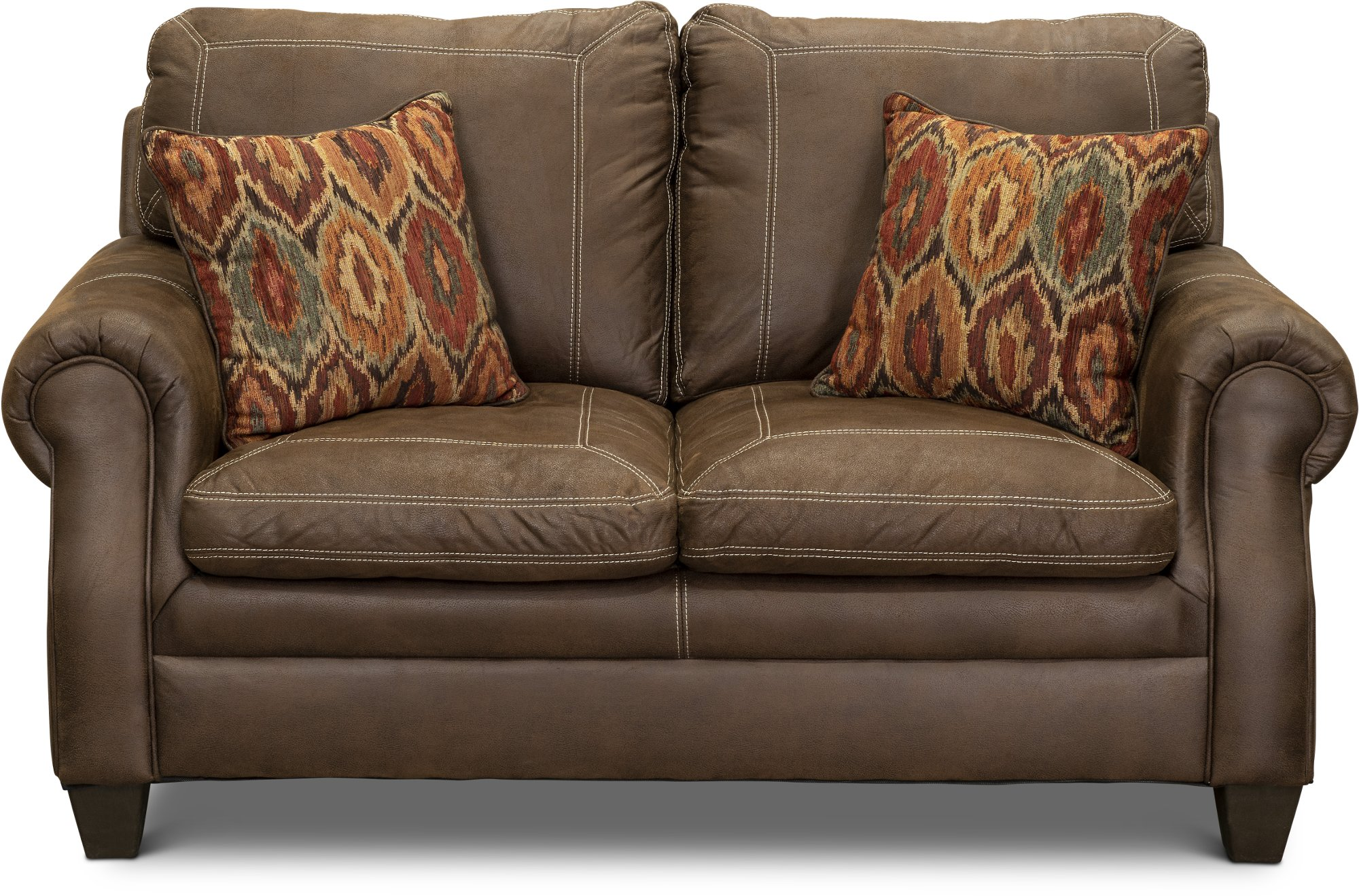 Classic traditional brown sofa loveseat set shiloh for Classic traditional furniture