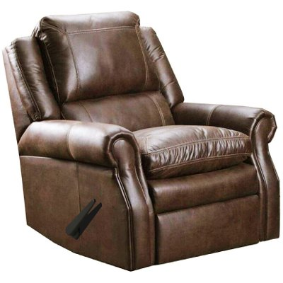 Classic Traditional Brown Rocker Recliner   Shiloh