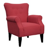 Classic Lipstick Red Accent Chair - Lydia