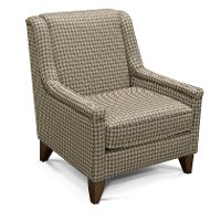 Gray and Beige Houndstooth Accent Chair - Kemp