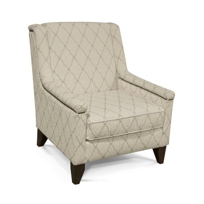 Ivory U0026 Taupe Accent Chair   Kemp