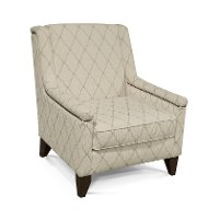 Ivory and Taupe Accent Chair - Kemp