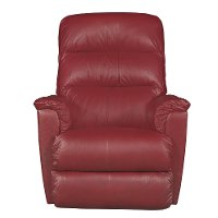 1HR-713/LB143507PRCL Cherry Red Leather-Match Power Recliner - Tripoli