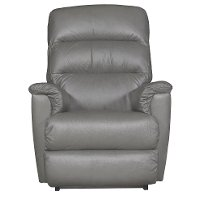 1HR-713/LB143554 Smoke Gray Leather-Match Power Recliner - Tripoli
