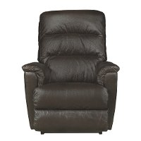 1HR-713/LB143579 Java Brown Leather-Match Power Rocker Recliner - Tripoli