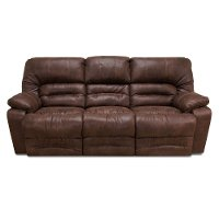 Chocolate Brown Microfiber Power Reclining Living Room Set - Legacy