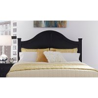 Black Classic Contemporary Full-Queen Size Headboard - Diego