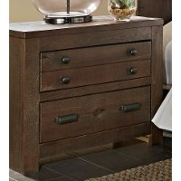 Dark Pine Rustic Contemporary Nightstand - Trilogy