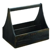 Magnolia Home Furniture Black Wood Tool Box