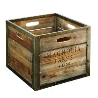 Magnolia Home Furniture Wood Storage Crate