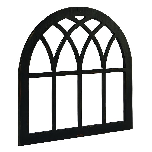 4913ab00711d ... Magnolia Home Furniture Black Cathedral Window Frame Wall Decor