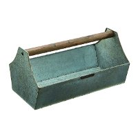 Magnolia Home Furniture Metal Tool Tote with Wood Handle