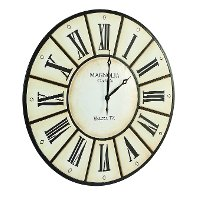 Magnolia Home Furniture Round Iron Village Wall Clock