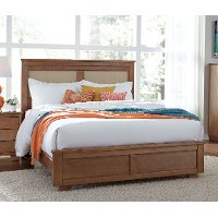 Dune Pine Casual Contemporary Full Upholstered Bed - Diego