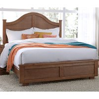 Dune Pine Casual Contemporary Queen Arch Bed - Diego