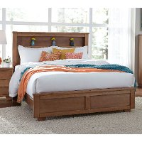 Dune Pine Casual Contemporary Full Bookcase Bed - Diego