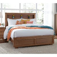 Dune Pine Casual Contemporary Queen Bookcase Bed - Diego