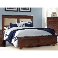Classic Brown King Upholstered Bed - Diego