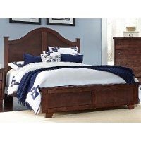 Espresso Brown Classic Contemporary Queen Size Bed - Diego