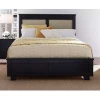 Black Classic Contemporary Upholstered Full Size Bed - Diego