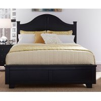 Black Classic Contemporary King Size Bed - Diego