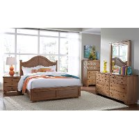 Dune pine casual contemporary 6 piece full arch bedroom - Porter contemporary 6 piece bedroom set ...