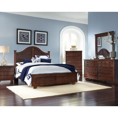 Full Size Bedroom Sets espresso brown contemporary 6 piece queen arch bedroom set - diego