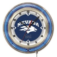Nevada 19 Inch Double Ring - Neon Logo Clock
