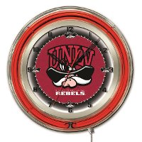 UNLV 19 Inch Double Ring - Neon Logo Clock