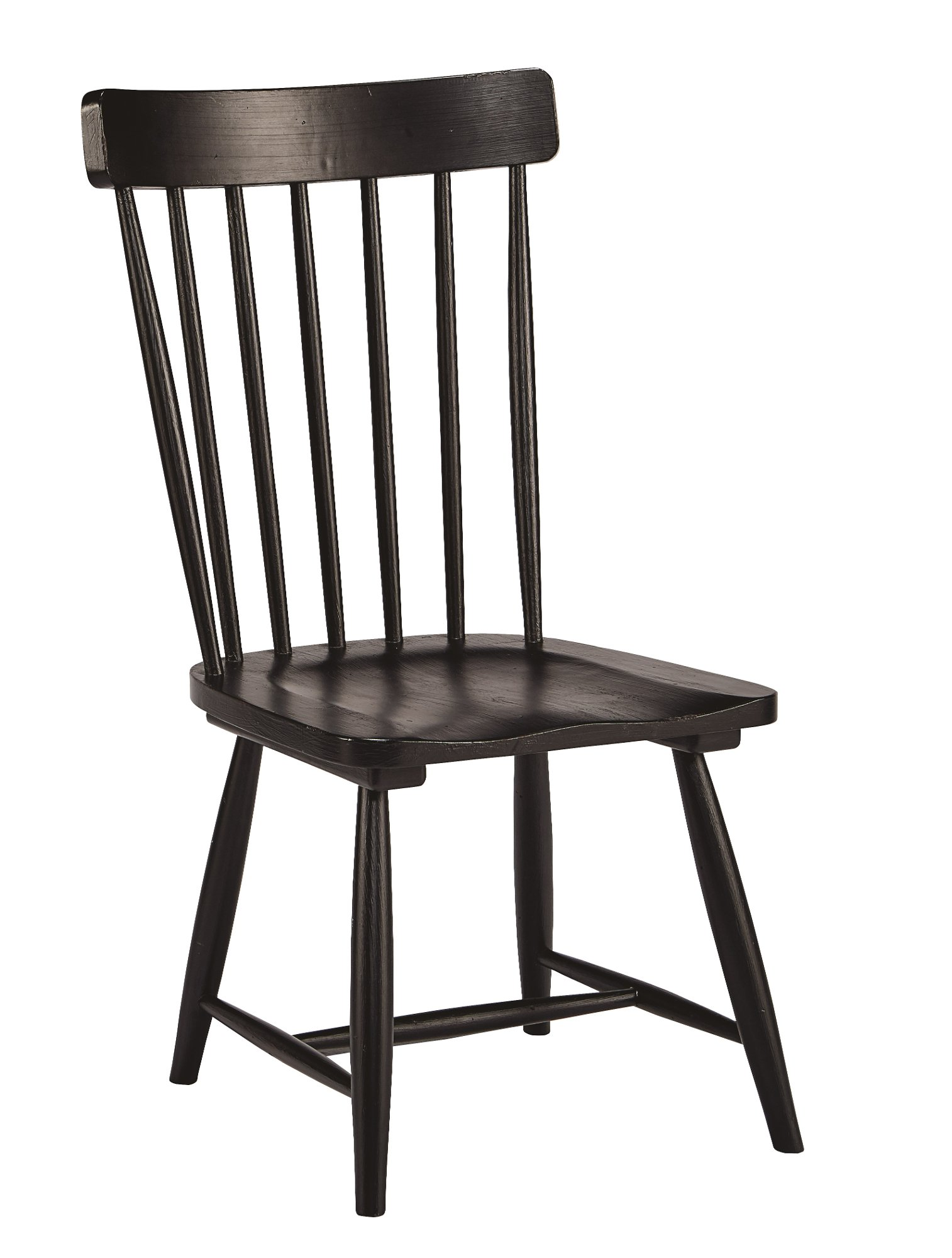 Magnolia home furniture white and black 7 piece dining set for Long back dining chairs