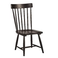 Magnolia Home Furniture Distressed Black Spindle Back Dining Chair