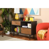 6779-RCW Dark Brown Storage Cabinet - Auburn