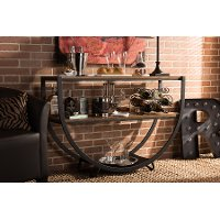 6648-RCW Rustic Industrial Console Table - Blakes