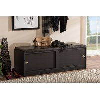 6790-RCW Cushioned Bench/ Shoe Rack Cabinet - Clevedon