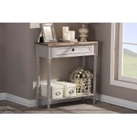 6654-RCW Rustic French Country Console Table - Edouard