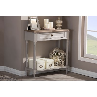 Rustic French Country Console Table