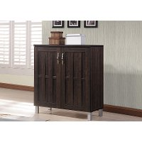 6498-RCW Dark Brown Storage Cabinet - Excel