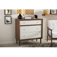 6782-RCW Modern Two-Tone 3-Drawer Chest - Harlow