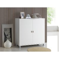 6470-RCW White Storage Cabinet - Marcy
