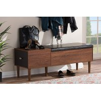 6789-RCW Entryway Storage Bench/ Shoe Cabinet - Merrick