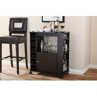 6633-RCW Dark Brown Dry Bar and Wine Cabinet - Ontario