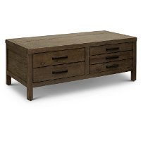 Casual Dark Brown Lift Top Coffee Table - Oakland