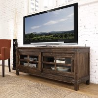 6268-880/BURNWALNUT 64 Inch Rustic Walnut TV Stand - New Castle