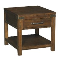6268-876/BURNWALNUT Rustic Brown End Table - New Castle