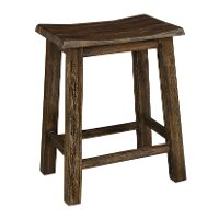 6268-820/BURNWALNUT Rustic Brown Stool - New Castle